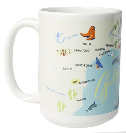 Ceramic Mug - Gulf of Mexico - Set of 4