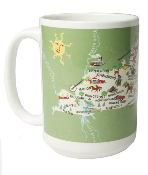 Ceramic Mug - Kentucky  -Set of 4