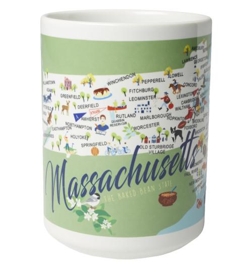 Ceramic Mug - Massachusetts - Set of 4