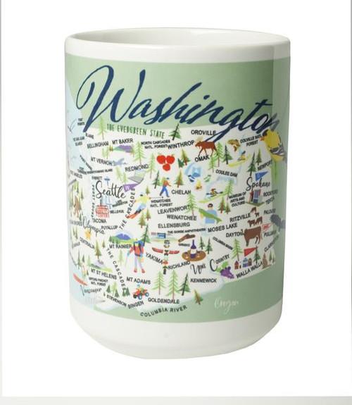 Ceramic Mug - Washington - Set of 4