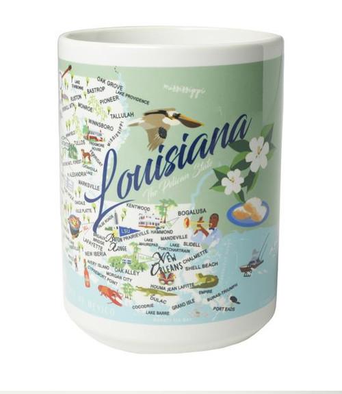 Ceramic Mug - Louisiana - Set of 4