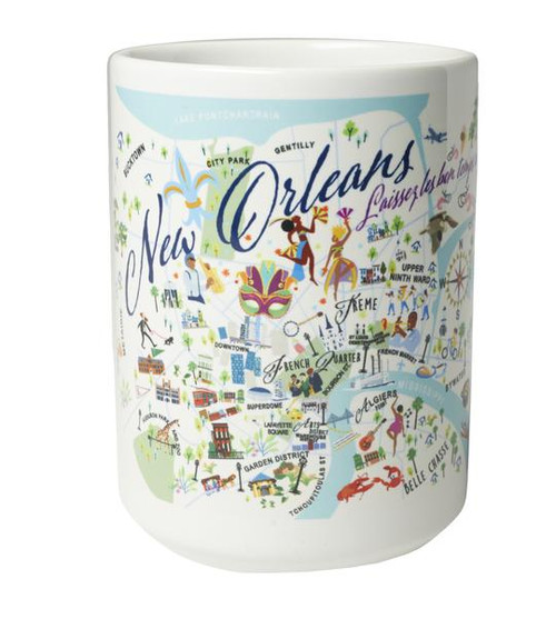 Ceramic Mug - New Orleans - Set of 4