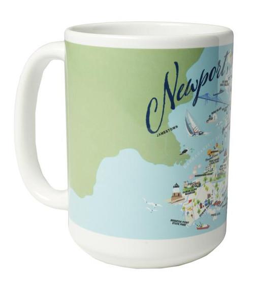 Ceramic Mug - Newport, RI - Set of 4