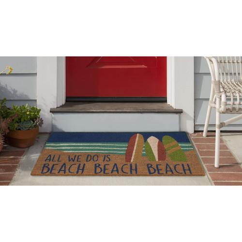 """Natura """"All We Do is Beach"""" Indoor/Outdoor Rug - 18""""x30"""""""