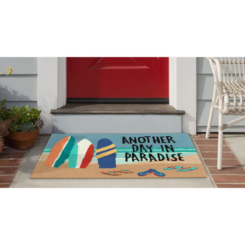 """Natura """"Another Day in Paradise"""" Indoor/Outdoor Rug - 2 Sizes - Lifestyle"""