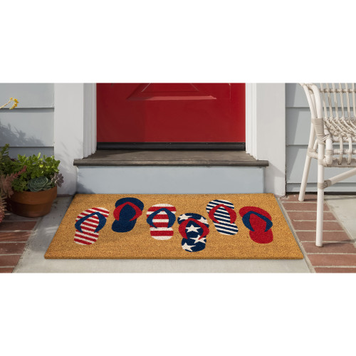 Natura Freedom Flip Flops All Natural Indoor/Outdoor Rug - 2 Sizes - Lifestyle