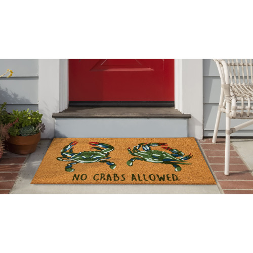 """Natura """"No Crabs Allowed"""" All Natural Indoor/Outdoor Rug - 2 Sizes - Lifestyle"""