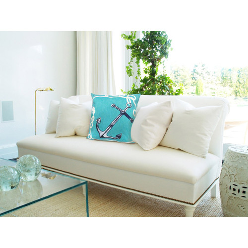 Visions II Aqua Marine Anchor Indoor/Outdoor Throw Pillows - 2 Sizes Avail