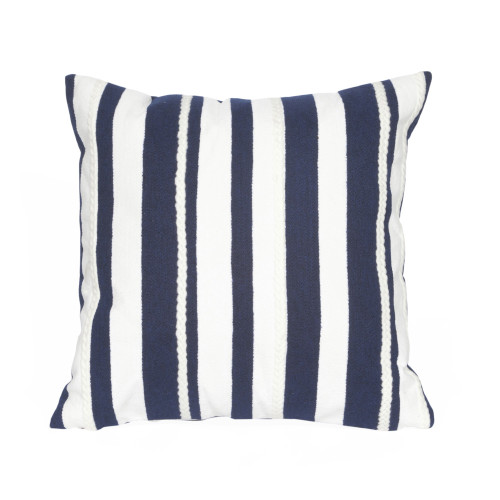 Visions II Marine Stripe Indoor/Outdoor Throw Pillows - 2 Sizes Avail
