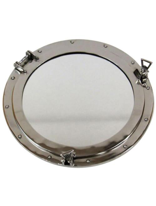 """Deluxe Porthole Mirror - Aluminum -  Chrome Finish 20"""""""