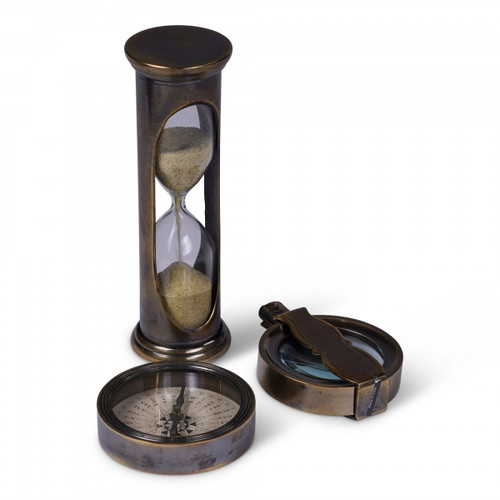 Compass, Travel Magnifier, Hourglass