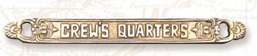 """(BP-715B)  Lacquered Brass """"Crew's Quarters"""" Wall Plaque"""