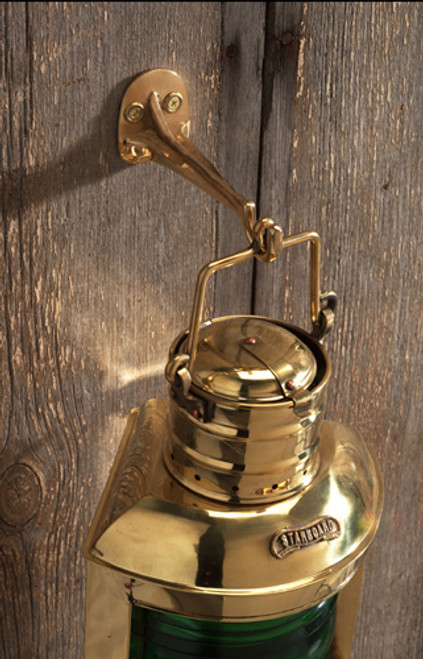 "(GH-191) 6"" Brass Lantern Hook"