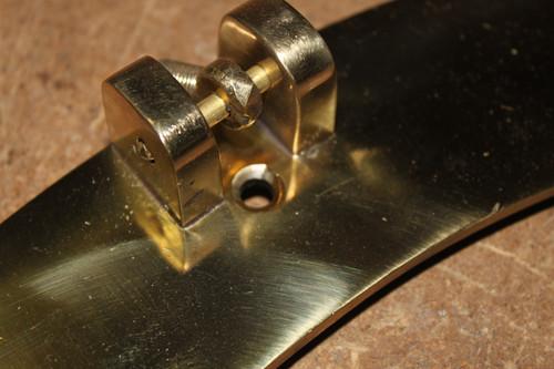 "Brass Porthole Mirror - 21"""