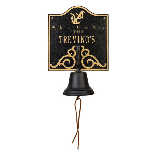 Personalized Anchor Welcome Bell Nautical Plaque - #1