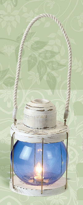 "5"" x 8"" Blue Ball Electric Lantern"