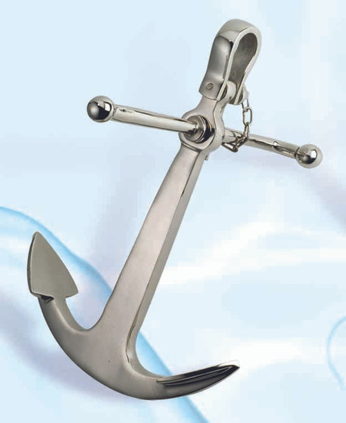 "(BW-633)  15"" Aluminum Anchor with Nickel Finish"