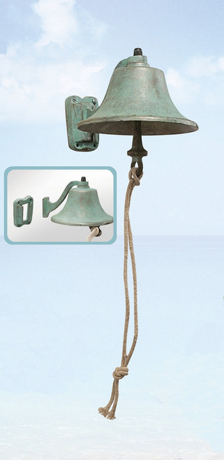 Aluminum Outdoor Bell with Verdi Green Finish 6""