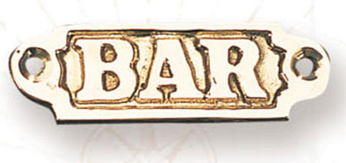 Brass Nautical Wall Plaque - Bar