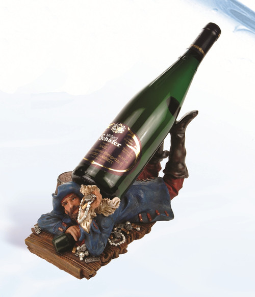 "(BH-54)  11"" Blue Coat Pirate Bottle Holder"