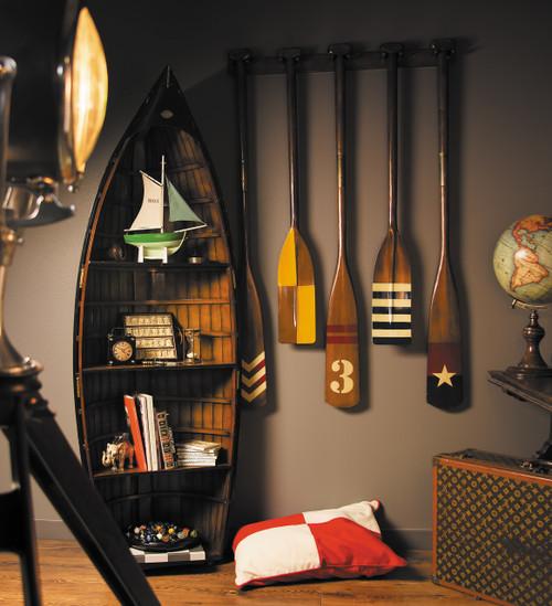 Premium Bosun's Gig Wooden Bookcase