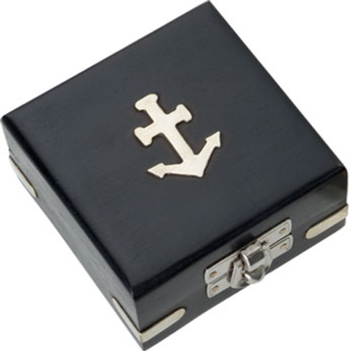 (BW-656CV) Black Display Box with Nickel Anchor and Fittings