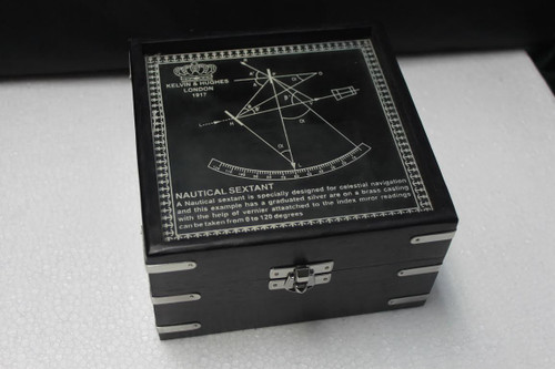 (BW-659CV) Black Box with Nickel Inlays and Latch