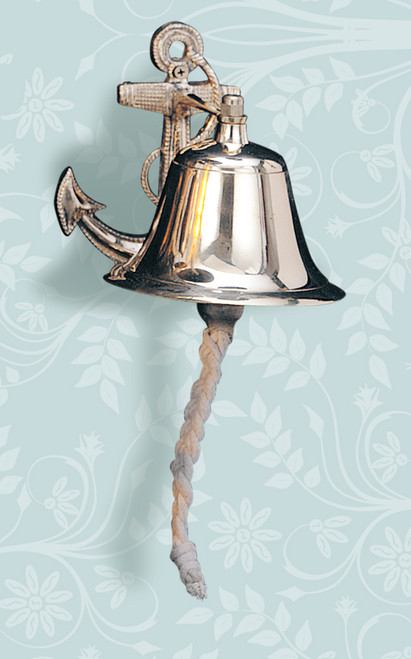 Fancy Brass Anchor Ship Bell - 2 sizes available