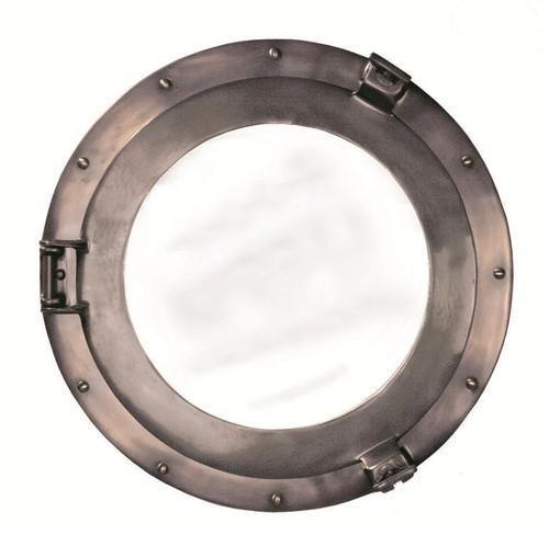 "Deluxe Cabin Bronze Porthole Mirror - 15"""