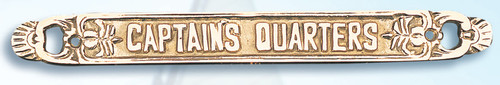 "(BP-715A)  Lacquered Brass ""Captain's Quarters"" Wall Plaque"