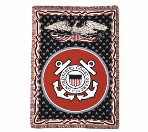 Decorative Nautical Throw Pillow - U.S. Coast Guard
