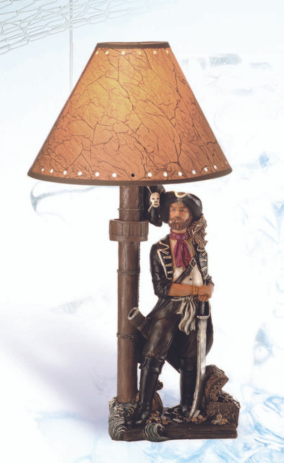 Table Lamp with Pirate Base 20""