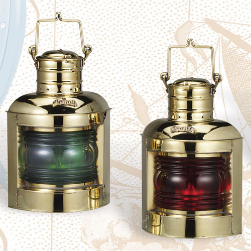 """(BL-835T)  Set of 2 Deluxe 12.5"""" Port and Starboard Touch Lanterns"""