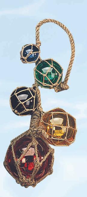 Hanging Japanese Glass Floats - 5 piece set