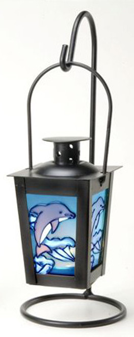 Hanging Iron Candle Holder - Dolphin