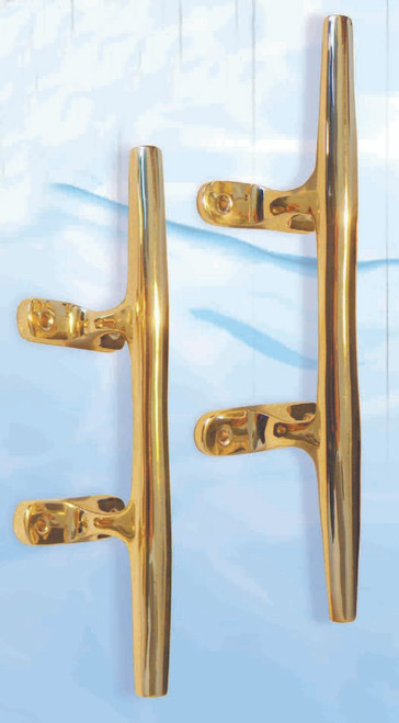 "(BW-635-12)  Extra Large 12"" Brass Boat Cleat"