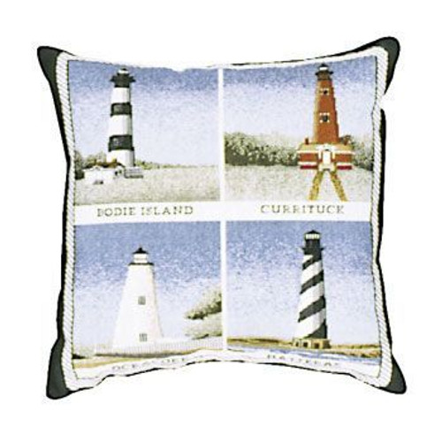 Decorative Nautical Beach Throw Blanket - Lighthouses