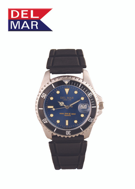 Del Mar Men's 200M Watch with Sport Strap - Blue Face