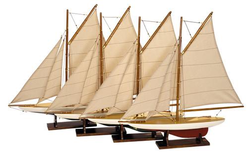 Mini Pond Yacht Model Ships - Set of 4