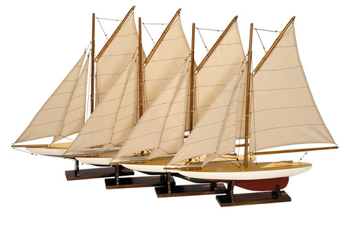 Mini Pond Yacht Model Ships - Set of 4
