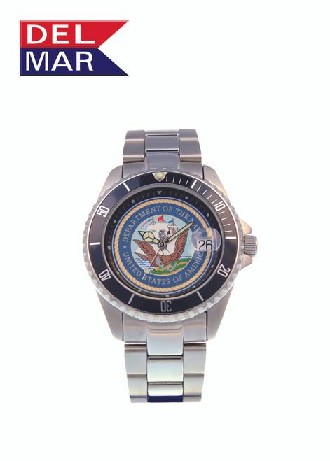 Del Mar Men's 200M Stainless Steel Military Sport Dive Watch - U. S. Navy