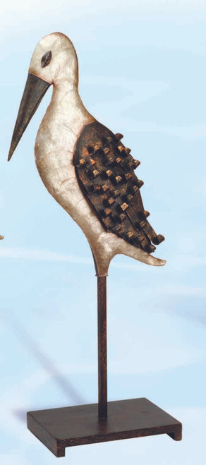 Pearled Pelican Decor on a Stand