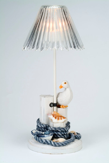 Pelican Rope Piling Nautical Candle Holder
