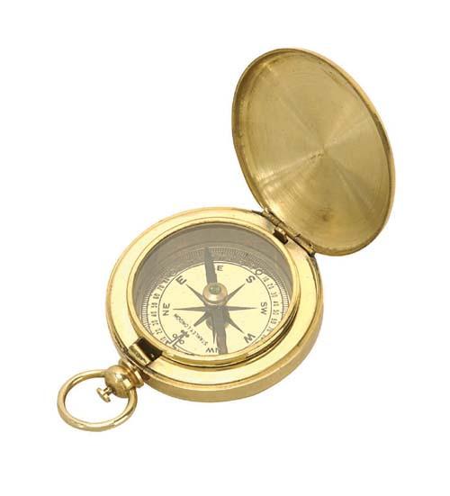 """(BW-654) 2"""" Brass Pocket Compass"""