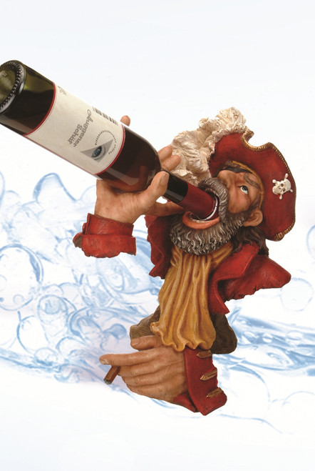 "(BH-57)  13"" Red Coat Pirate Bottle Holder"