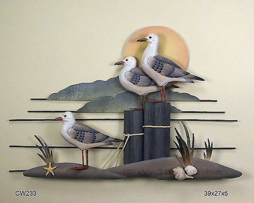 Seagull Trio Coastal Wall Sculpture