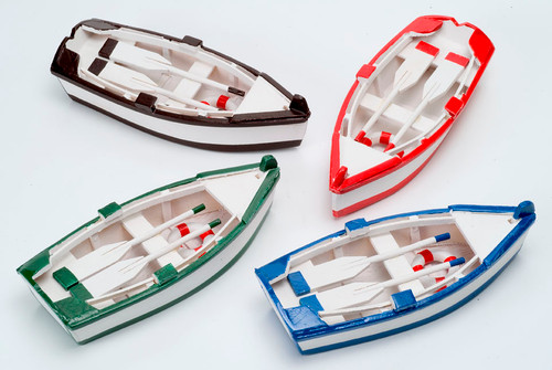 Colorful Rowboats- Set of 4