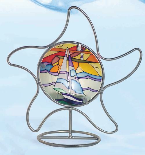 Stained Glass Candle Holder - Starfish