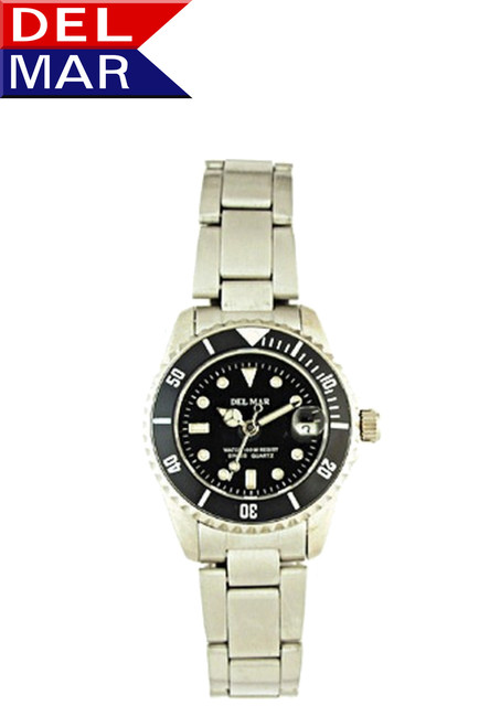 Del Mar Women's 200M Stainless Steel Classic Dive Watch - Black Face