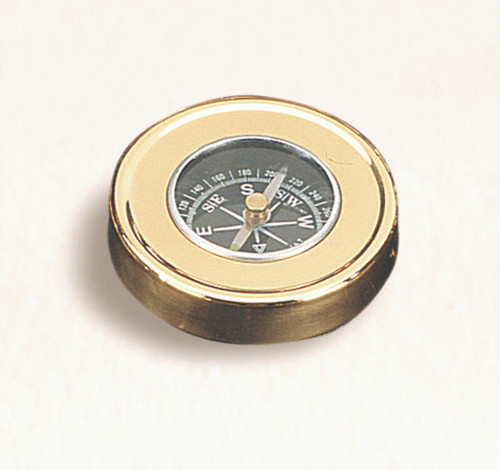 """(BW-645) 2.5"""" Brass Paperweight Compass"""